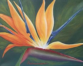 Palmisano_Sunbird_Web_8x10 bird of paradise sun bird oil painting canvas 8 x 10