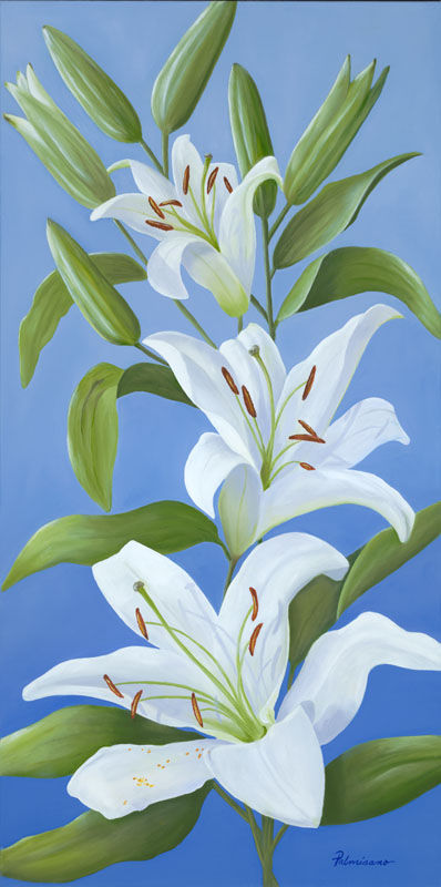Lily Flower Essence of Joy Oil Painting