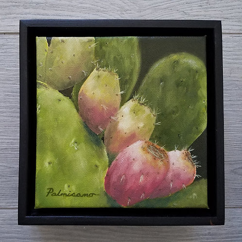 Prickly Pear Delight Framed Original Oil Painting
