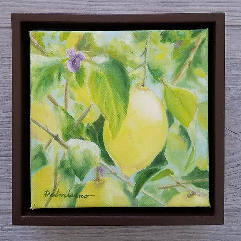It's A Lemon World Framed Original Oil Painting