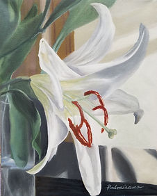 Palmisano_LiftYourSpirit_ 10 x 8 white lily oil painting canvas