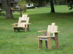 PIXA Chair with Armrests and PIXA Lounge Chair