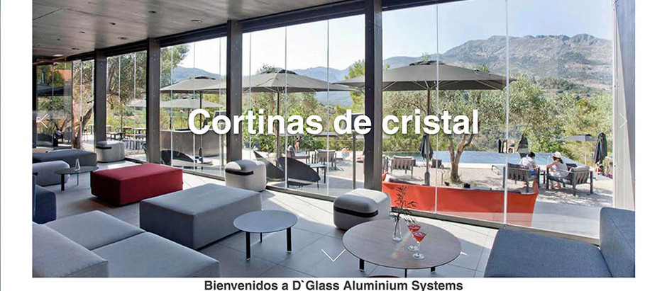 Nuestra web D`Glass Aluminium Systems