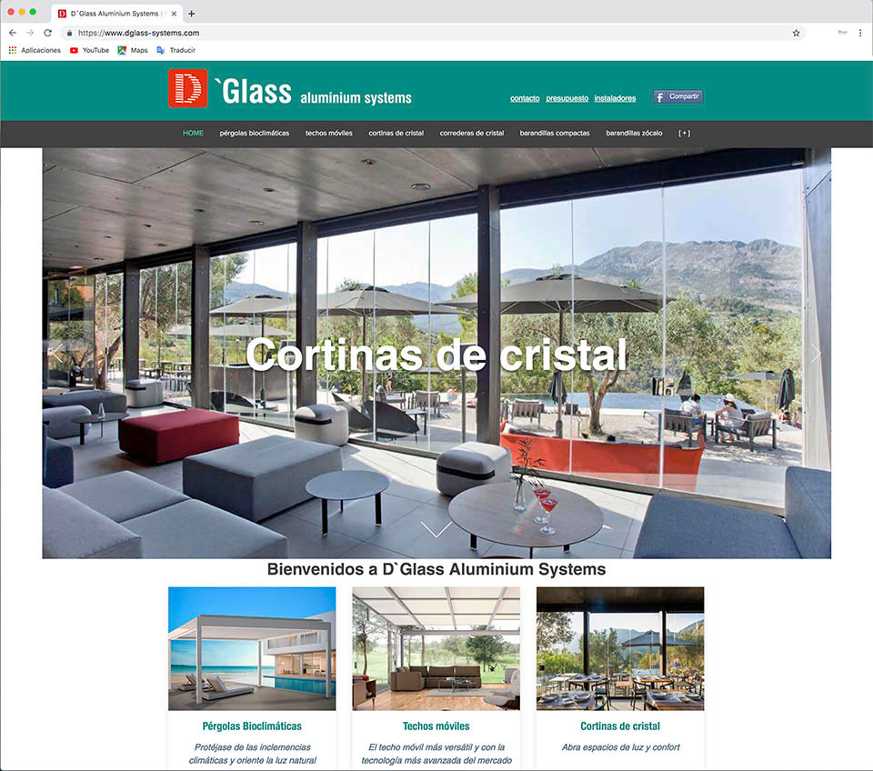 nueva web D`Glass Aluminium Systems