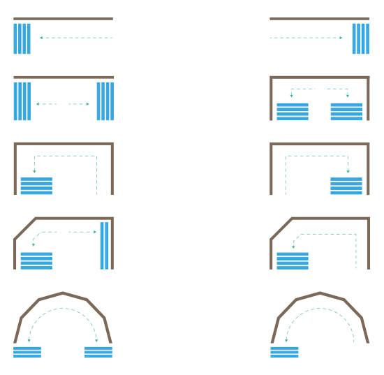 configuraciones cortinas de cristal DGlass
