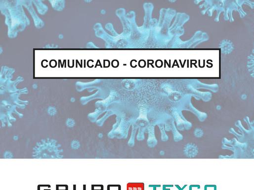 COMUNICADO - CORONAVIRUS