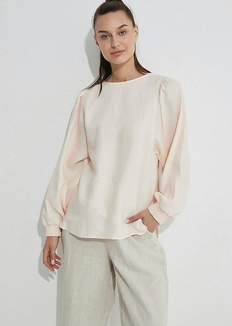 Blouson Sleeve Top - pale pink