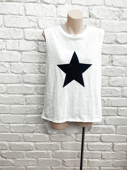 White tank with black star