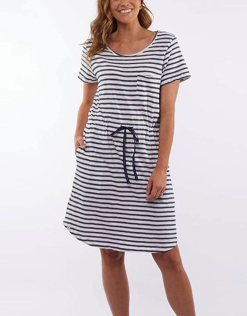 Hilda Navy and White dress