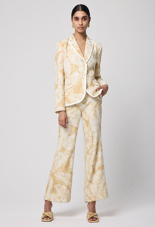 Arlo Lyocell Flared Pant l Golden Palm
