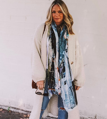 Morning in Capri Scarf - cashmere and modal