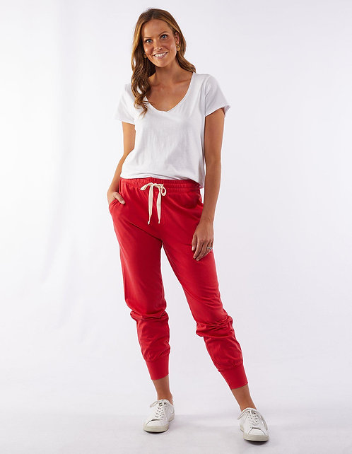 ELM Washout Lounge Pant l Bright Red