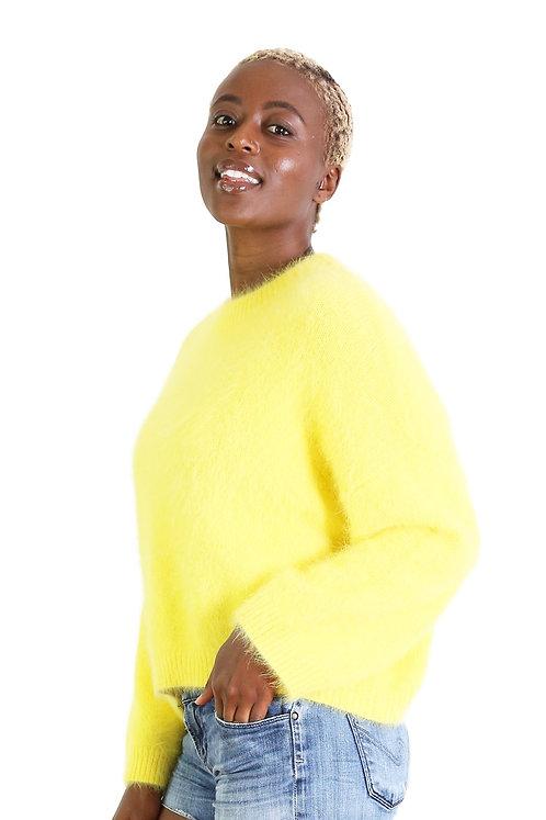Montreal Angora Knit - neon yellow