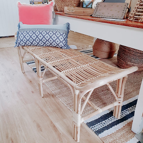 Rattan Bench Seat - Natural
