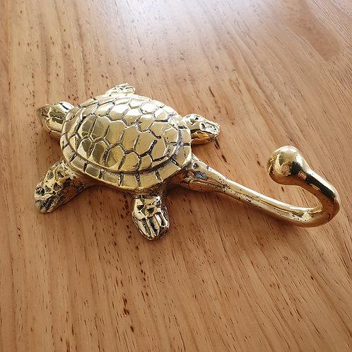 Turtle Wall Hook l Gold Brass