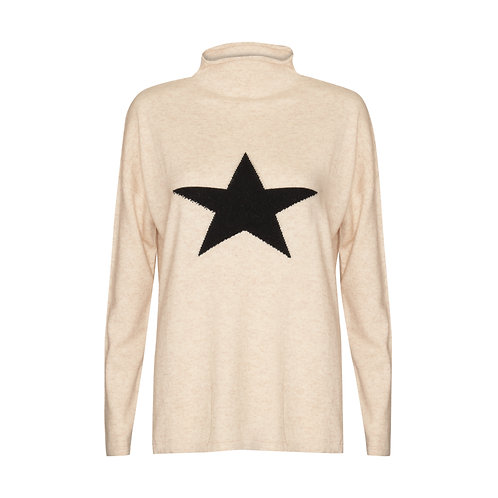 Adele Star Sweater - 100% cashmere