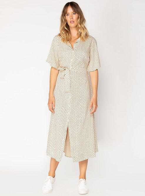 PolkaJazz Midi Dress