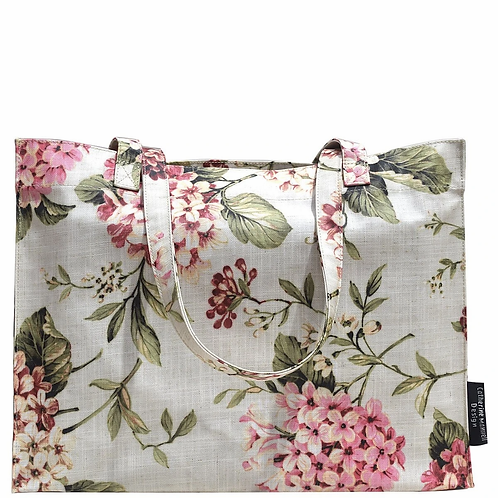 BEACH BAG/ECO SHOPPER TOTE - ROSE SAND FLORAL