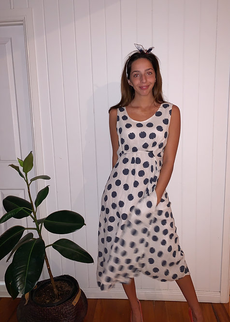 The Dolly Spottie Navy and White Dress