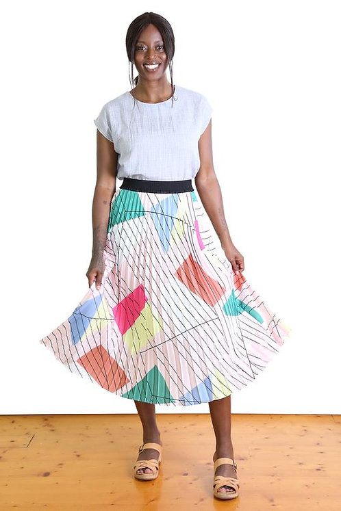 Tiffany Pleat Pink Skirt