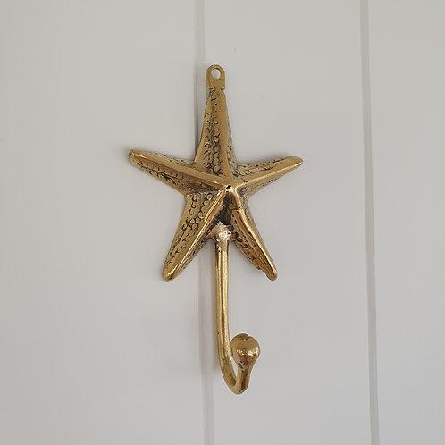 Starfish Wall Hook l Gold Brass