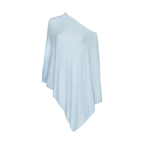 Sophie Poncho - 100% Cashmere (pearl blue)