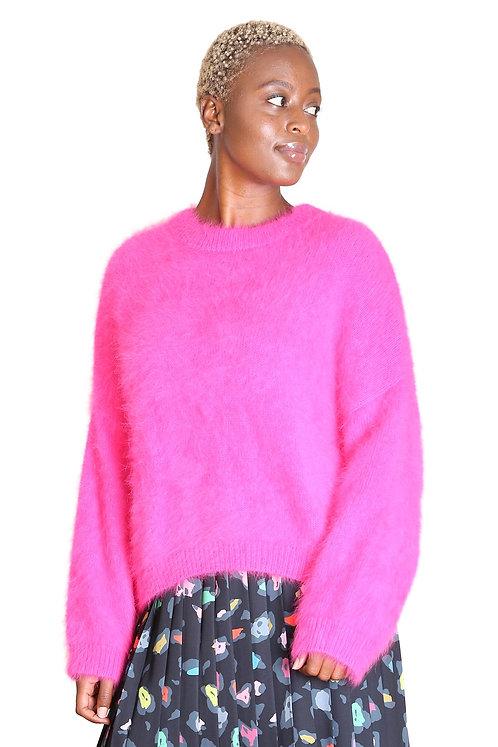 Montreal Angora Knit - neon pink