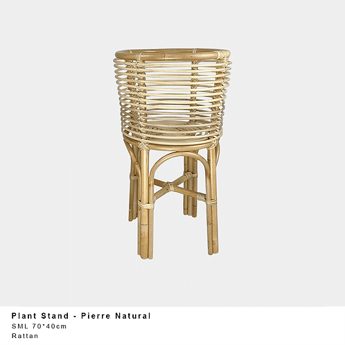 Small Rattan Plant Stand l Natural