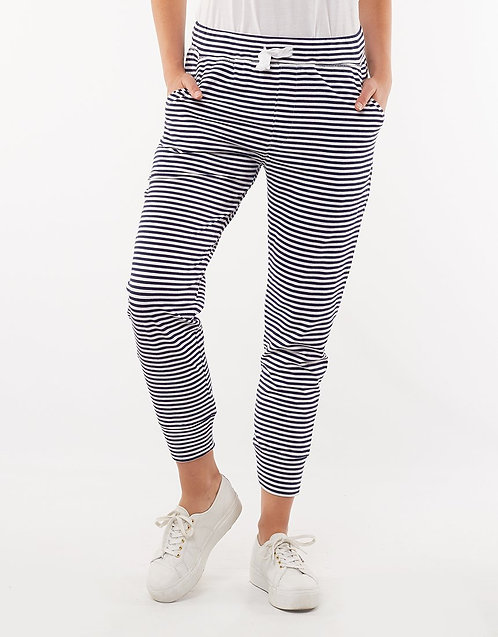 Molly Elm Wash Out Lounge Pants - Navy Stripe