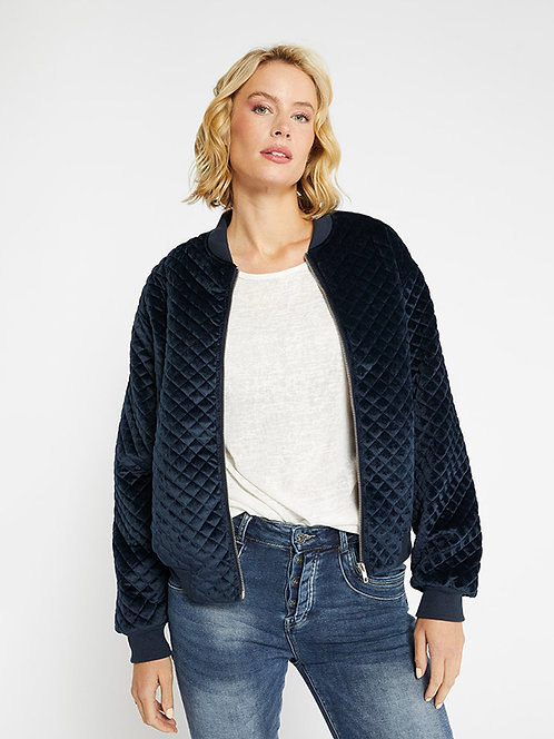 Navy Quilted Bomber l 365 Days