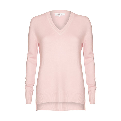 Boyfriend V Neck Sweater - 100% cashmere