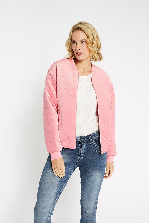 Pink Quilted Bomber l 365 Days