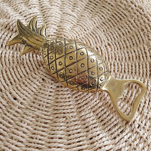Pineapple Bottle Opener l Golden Brass
