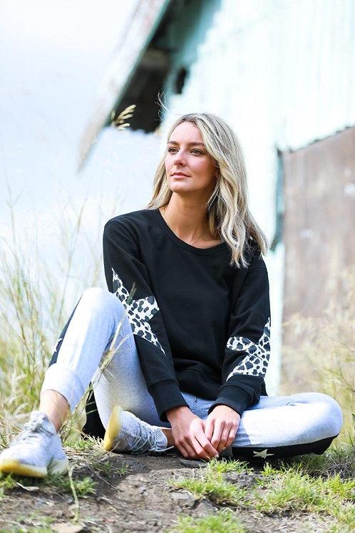 Twin Star Sweater Leopard l 3rd Story