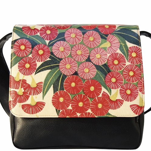 FLORAL SATCHEL BAG - FLOWERING GUMS