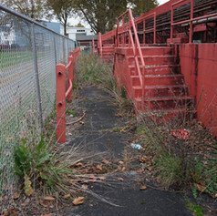 Prior condition-fenced off/dilapidated