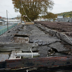 Prior condition of press box roof