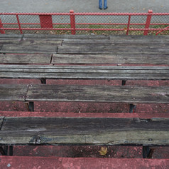 Prior condition/Old wooden bleachers