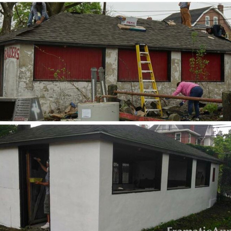 New Roof/Paint, and Clean Out of Old Snack Shack