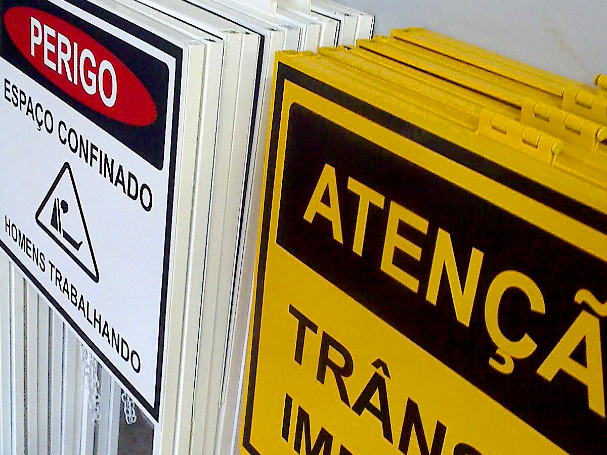 Placa de Atenção, Placas de Aviso.