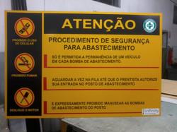 Placa de Atenção e Cuidado