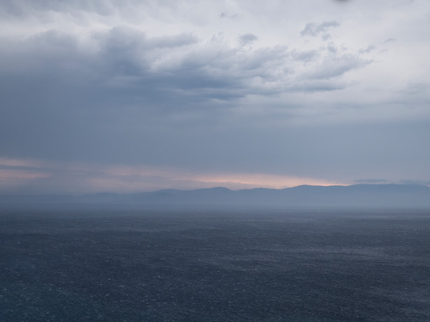 View from St. Paul's Monastery, Mt. Athos, Greece