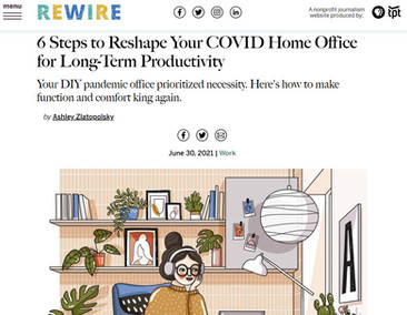 6 Steps to Reshape your work from home space