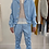 Thumbnail: CRUMPLE Blue Jacquard Shirt