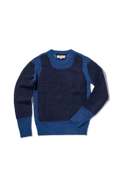 PEEK Part Knit Sweater - Navy