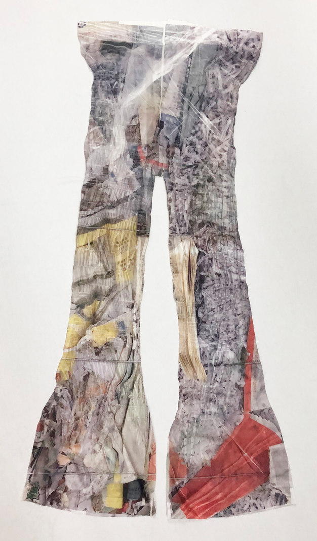 Nylon Print Trousers