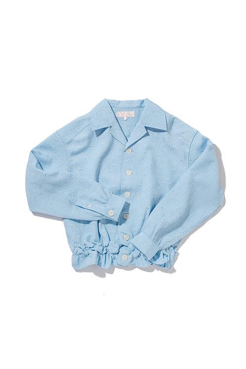 CRUMPLE Blue Jacquard Shirt