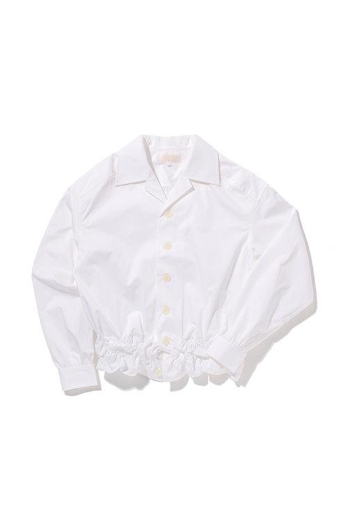 CRUMPLE White Cotton Shirt