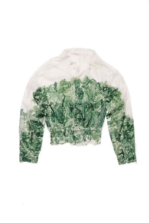 MEMBRANE Printed Nylon Shirt
