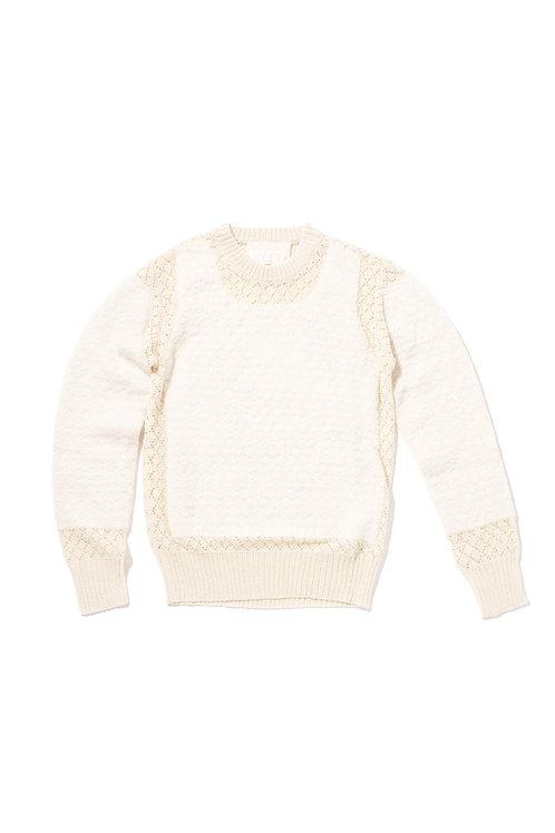 PEEK Part Knit Sweater - Cream
